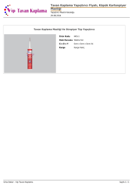 Tavan Kaplama Yapıştırıcı Fiyatı, Köpük Kartonpiyer Mastiği