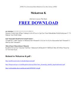 MEKATRON K | Book PDF