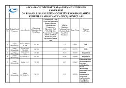 Mühendislik Fakültesi - Adıyaman Üniversitesi