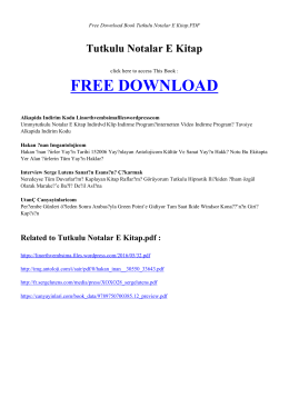 TUTKULU NOTALAR E KITAP - Free Book
