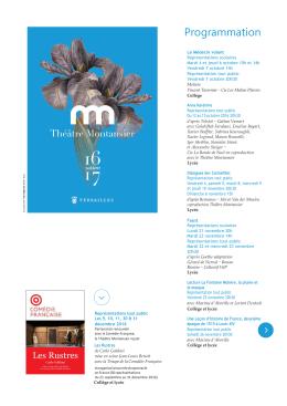 Programmation - Théâtre Montansier