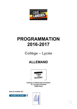 Programmation annuelle