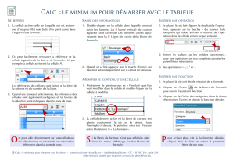 Calc : le minimum pour démarrer avec le tableur ( PDF
