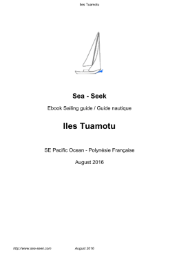 Iles Tuamotu - Sea-Seek