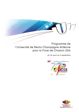 en savoir plus - Reims - Université de Reims Champagne