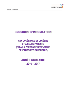 2016_LJP-02_Brochure_Informations_Parents - Lycée Jean