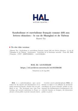 Symbolisme et surréalisme français comme défi aux - Hal-SHS