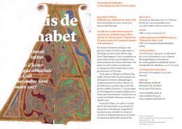 Le développement de l`écriture latine Exposition d`hiver