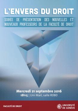 Télécharger le flyer - Université de Genève