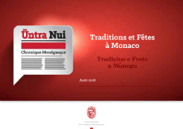 Traditions et Fêtes à Monaco - Comité National des Traditions