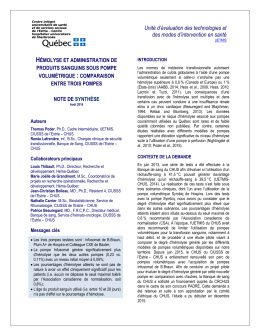 Unité d`évaluation des technologies et des modes d