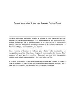 Forcer une mise à jour sur liseuse PocketBook