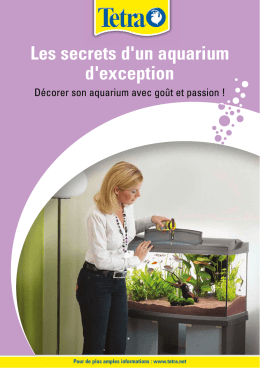 Les secrets d`un aquarium d`exception