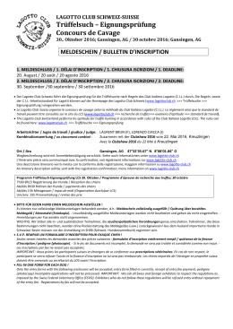 Trüffelsuch – Eignungsprüfung Concours de