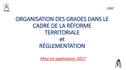 Organisation/réglementation