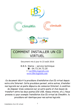 INSTALLATION D`UN CD VIRTUEL