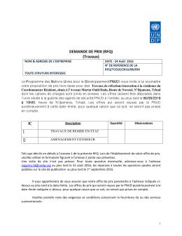 Demande de Prix.docx - Procurement Notices