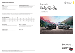 liste de prix - Sondermodelle Renault SWISS EDITION