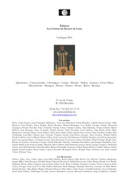 Catalogue () - Les Carnets du Dessert de Lune