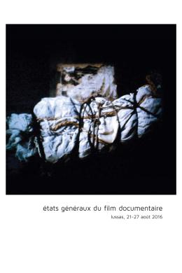 programme - États généraux du film documentaire