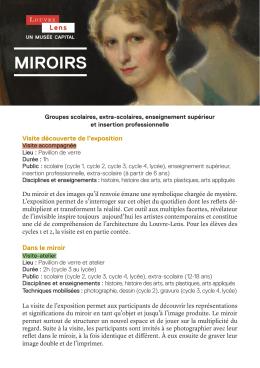 miroirs - Louvre-Lens