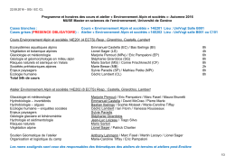 Environnement Alpin et sociétés