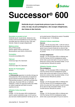 Successor® 600 - Stähler Suisse SA