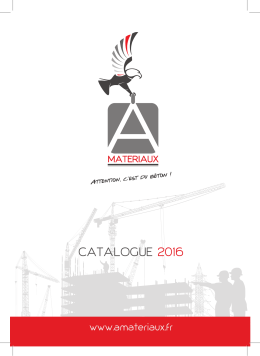 Catalogue A MATERIAUX 2016