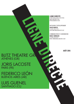 blitz theatre group joris lacoste federico león luis