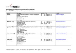 Bestellung für Betäubungsmittel-Rezeptblöcke