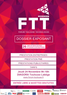 dossier exposant - Forum Toulouse Technologies