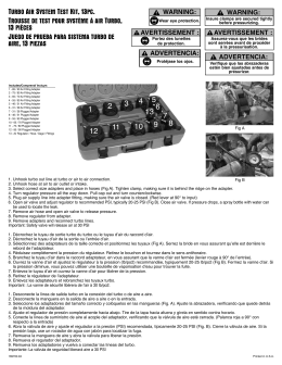 Turbo Air SySTem TeST KiT, 13pc. TrouSSe de TeST pour