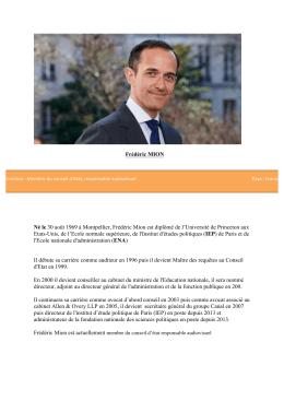 Frédéric MIONDirecteur de l`Institut d`études politique