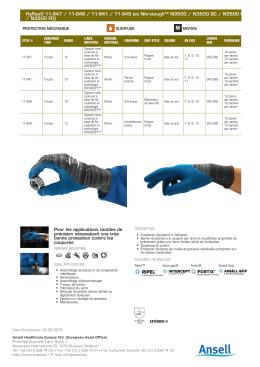 HyFlex® 11-947 / 11-948 / 11-941 / 11-949