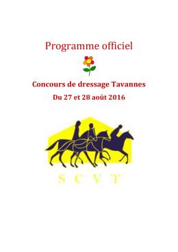 Programme - Société de cavalerie