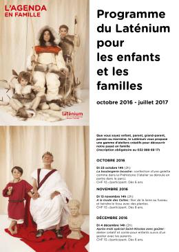 Programme du Laténium pour les enfants et les familles