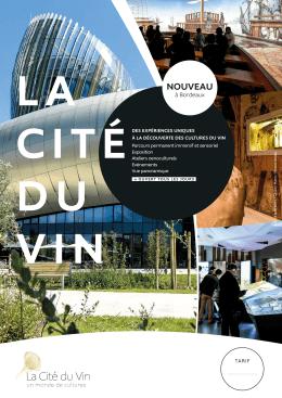 nouveau - La Cité du Vin