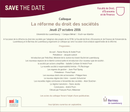 SAVE THE DATE - Université du Luxembourg