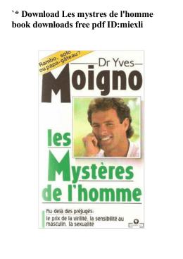 Les mystres de l`homme book downloads free pdf