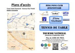 Flyer - Ligue PACA Tennis de Table