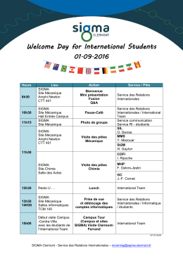 Welcome Day for International Students