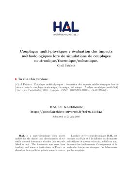 Couplages multi-physiques : évaluation des impacts - Pastel
