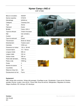 Hymer Camp c 642 cl