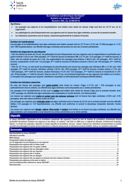 Bulletin national d`information OSCOUR du 23 août 2016