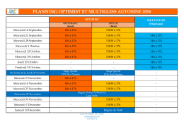 planning optimist et multigliss automne 2016