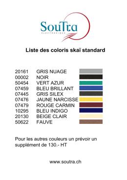 Coloris standard