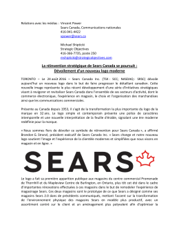 La réinvention stratégique de Sears Canada se poursuit