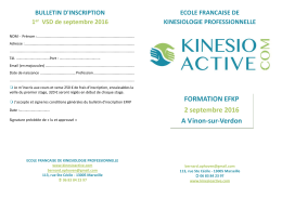Téléchargez le Bulletin d`inscription EFKP Septembre 2016