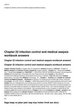 Chapter 22 infection control and medical asepsis workbook answers