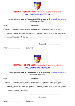 Bulletin d`inscription